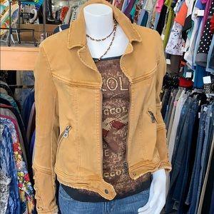 Size Medium mustard color denim jacket